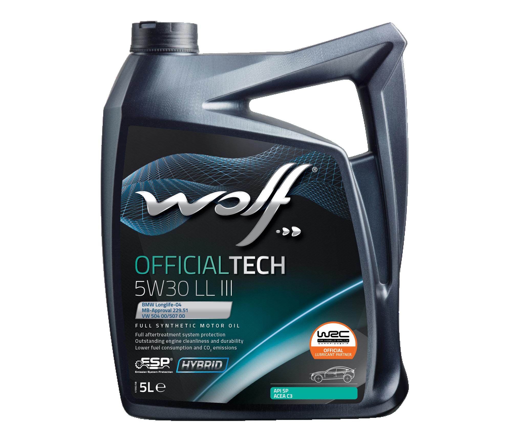 WOLF OFFICIALTECH 5W30 LL III 5L